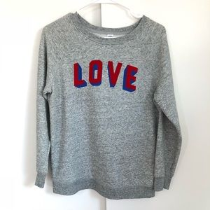 LOVE gray sweatshirt